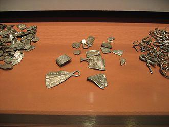 Hacksilver - Hacksilver from the medieval period, Museum für Hamburgische Geschichte, Hamburg, Germany.
