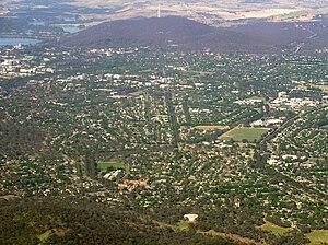 Hackett, Australian Capital Territory - Aerial view of Hackett from north east