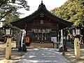 Haiden of Sannomiya Shrine near Hatae Station.jpg
