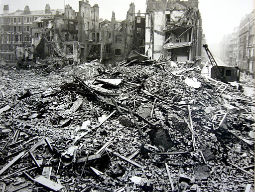 Hallam Street Blitz Bomb Damage
