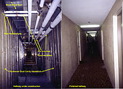 Common insulation applications in apartment building in Mississauga, Ontario, Canada.