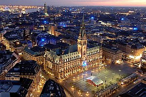 English: Hamburger Rathaus, City hall of Hambu...