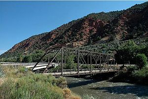 Roaring Fork River - Hardwick Bridge crossing the Roaring Fork River, between Carbondale and Glenwood Springs