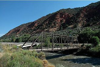 Roaring Fork River - Hardwick Bridge crossing the Roaring Fork River, between Carbondale and Glenwood Springs