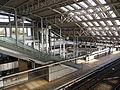 Haruhino station inside flyover.JPG