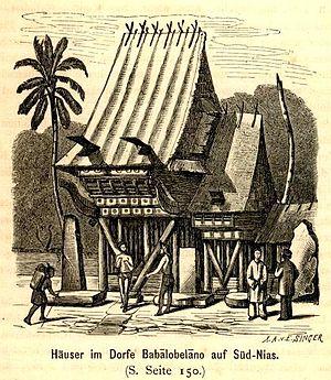 Omo sebua - A traditional house in South Nias.