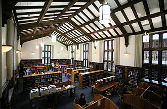 Reed College - Part of the interior of the Eric V. Hauser Memorial Library