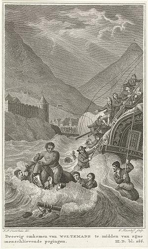 Wolraad Woltemade - Image: Heldendood van Woltemade bij Kaap de Goede Hoop, 1773