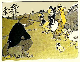 """Henny Penny - Illustration for the story """"Chicken Little"""", 1916"""