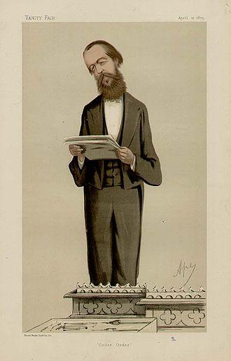 "Henry Cecil Raikes - ""Order, order"" Raikes as caricatured by Ape (Carlo Pellegrini) in Vanity Fair, 17 April 1875"