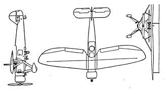 Henschel Hs 122 - Henschel Hs 122 3-view drawing from L'Aerophile September 1939