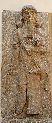 Relieve de Gilgamesh, del palacio de Sargón II.