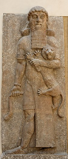 Gilgamesh, roi mythique d'Ourouk 225px-Hero_lion_Dur-Sharrukin_Louvre_AO19862