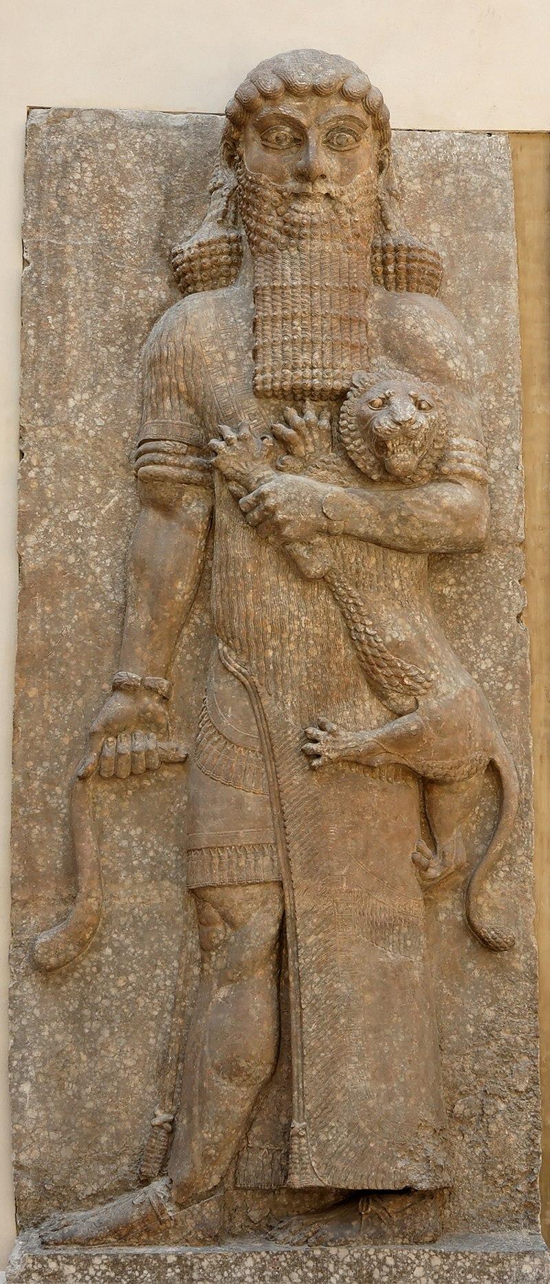 Gilgamesh qui maîtrise un lion, musée du Louvre.