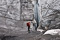 Hiking on Snowbird Glacier. Talkeetna Mountains, Alaska (29438012732).jpg