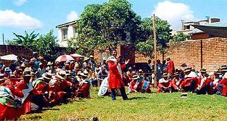 Music of Madagascar - Hira gasy performance of kabary in Antananarivo, 1999
