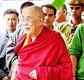 His Holiness giving teachings at Sissu, Lahaul.jpg
