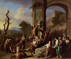 Gerard Hoet - Image: Hoet, Gerard Opferfest zwischen antiken Ruinen