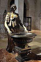 Holy water Angel St. Michael's Church - Munich.jpg