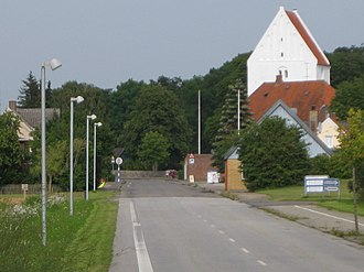 Horslunde - Horslunde with a view of its church