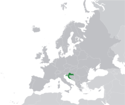 Location of Croatia