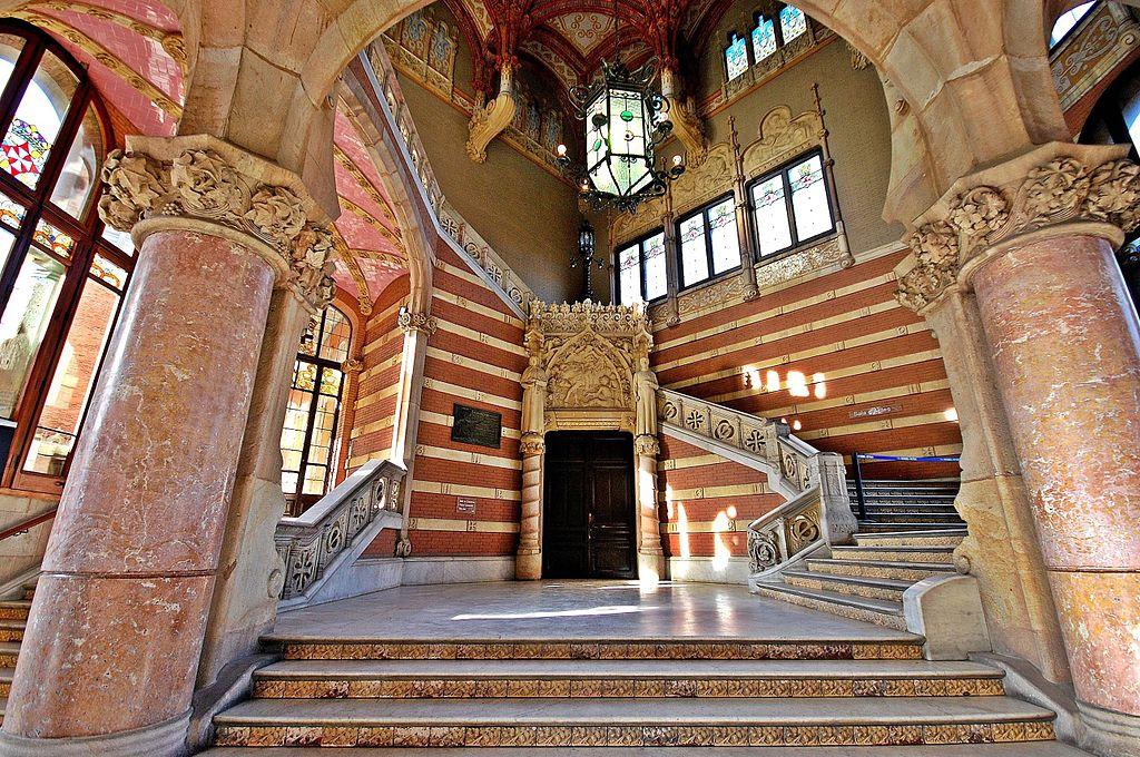 Intérieur de l'hôpital Sant Pau à Barcelone - Photo de Montse Poch.