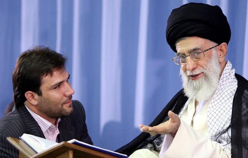 Hossein Fardi and Supreme Leader Ayatollah Khamenei