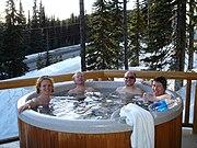 Hot tub at Big White Ski Resort