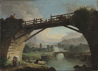 Ruined Bridge with Figures Crossing