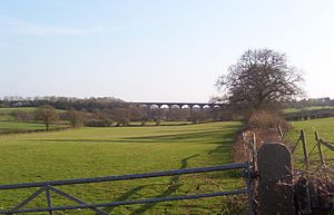 Winterbourne, Gloucestershire - Looking towards the Huckford Viaduct and Frome Valley from Cloisters