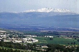 Hatzor HaGlilit - Hatzor HaGlilit overlooking Hula Valley and Mount Hermon