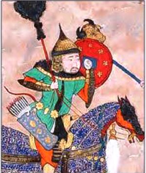 Houman - In the Shahnameh of Shah Tahmasp.
