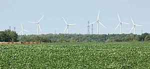 Huron Wind farm in Tiverton, Ontario, Canada, ...