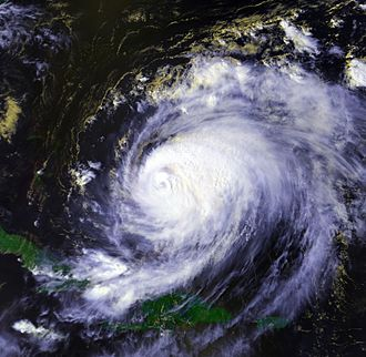 1998 Atlantic hurricane season - Image: Hurricane Bonnie 23 aug 1998 1857Z