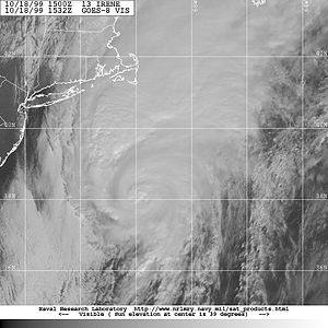 Hurricane Irene off the coast of South Carolin...