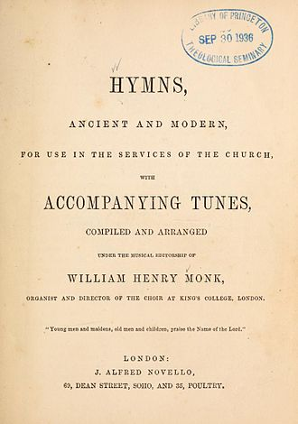 Hymns Ancient and Modern - Image: Hymns Ancient and Modern (first edition 1861)