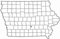 Location of Pleasantville, Iowa