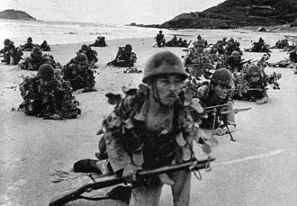 5th Division (Imperial Japanese Army) - Soldiers of the 5th division landing on a beach during the Malayan invasion, December 1941