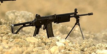 A Galil rifle in service with the Israel Defense Forces in July 2000.