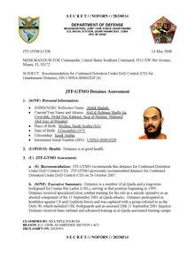 ISN 00042, Abdul Shalabi's Guantanamo detainee assessment.pdf