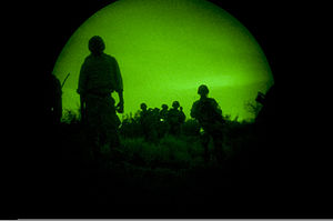 Light enhanced, night vision photography, show...