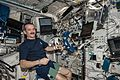 ISS-35 Chris Hadfield with Cardiolab (CDL) Leg-Arm Cuff System (LACS).jpg