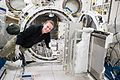 ISS-49 Kate Rubins works with the airlock inside of Kibo.jpg