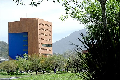 Ricardo Legorreta designed the EGAP CEMEX building, which houses the Graduate School of Public Administration and Public Policy, at San Pedro Garza Garcia, a suburb of Monterrey ITESM EGAP Monterrey.jpg