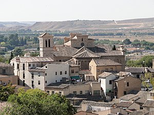 Iglesia de Santiago del Arrabal, Toledo - Santiago del Arrabal, view from the Puerta de Bisagra Nueva