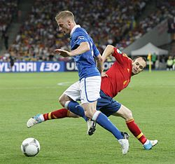 Ignazio Abate and Andrés Iniesta Euro 2012 final.jpg