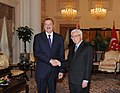 Ilham Aliyev and President of Singapore Tony Tan held a meeting in an expanded format with the participation of delegations, 2012 01.jpg