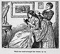 Illustrations by K. M. Skeaping for the Holiday Prize by E. D. Adams-pg-010-While her maid arranged her tresses.jpg