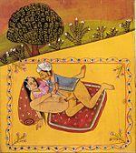 Position du missionnaire. Art érotique indien du XIXe siècle.