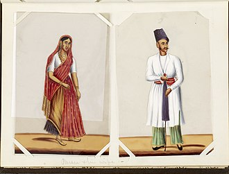 Parsis - Parsis from India, c. 1870
